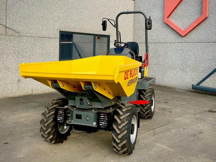 3204 - Dumper op banden laadvermogen 2 ton Wacker Neuson 2001 2