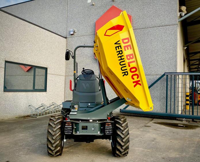 3204 - Dumper op banden laadvermogen 2 ton Wacker Neuson 2001 3