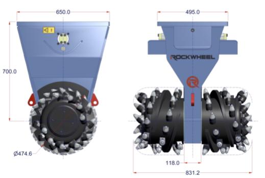 Demolitionfrees kranen 13-21 ton CW30 Rockwheel D15