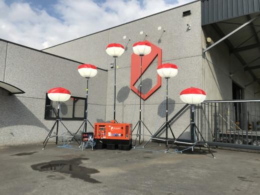 Lichtballon LED 6 stuks op groepje 10KVA