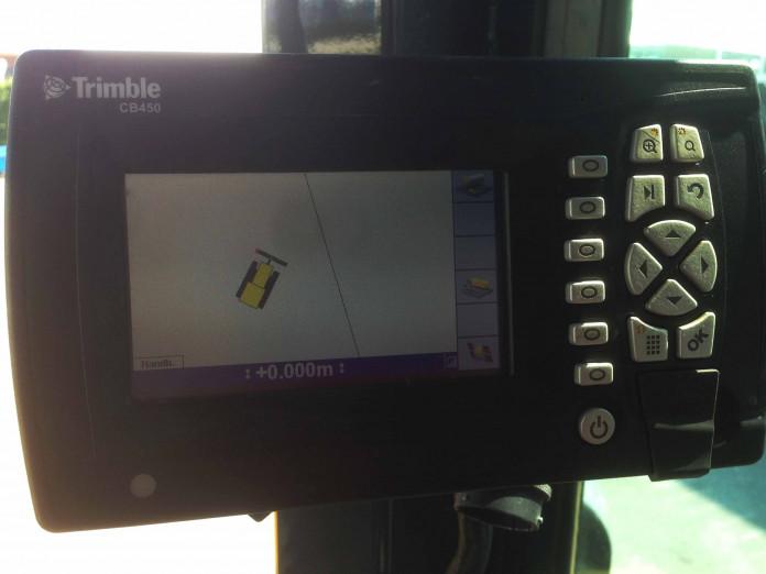 Trimble controlebox bulldozer