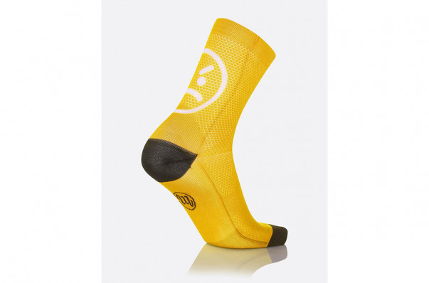 MBwear socks fun smile h15 geel