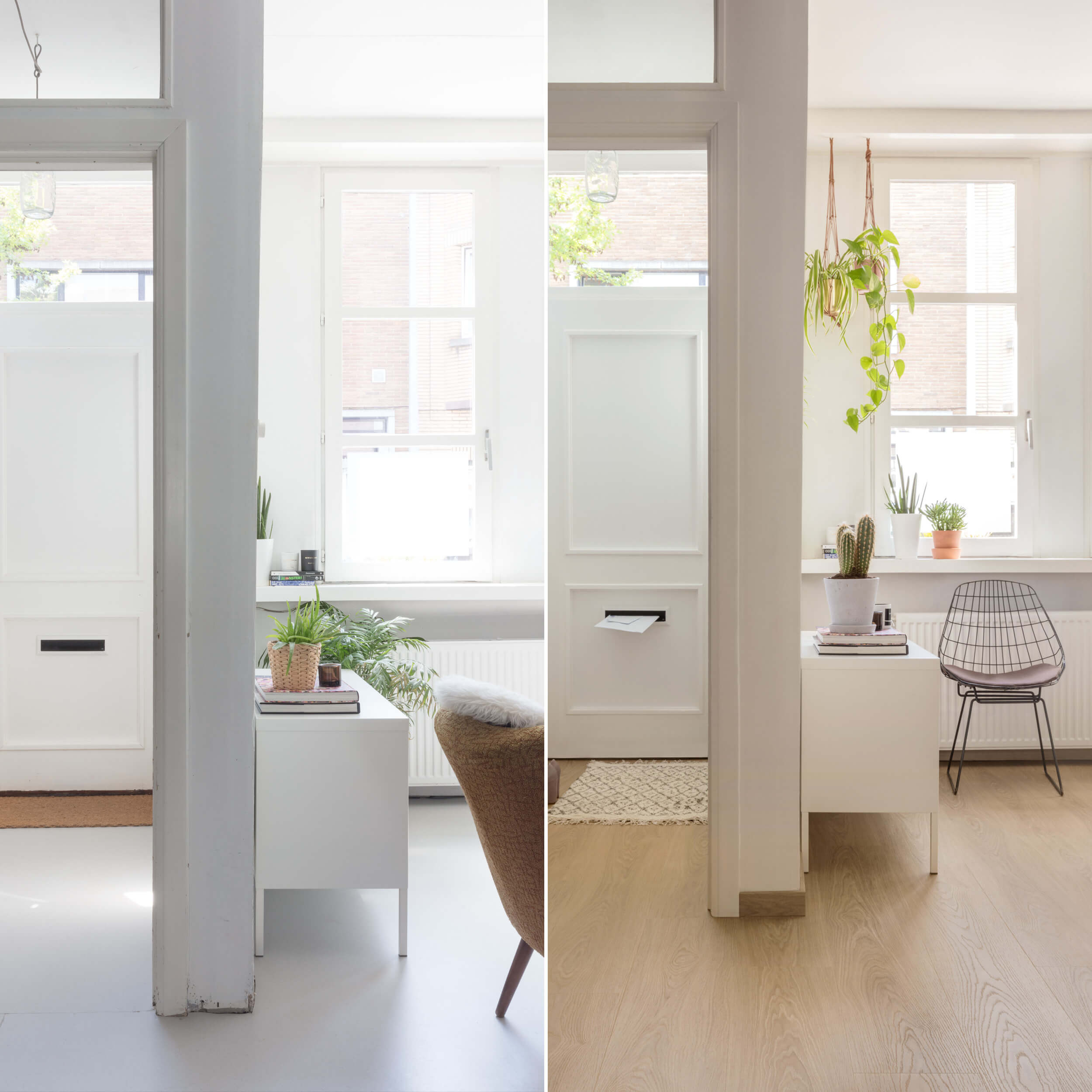 Before-and-after: From a failed linoleum to a warm wood look thanks to Floorify