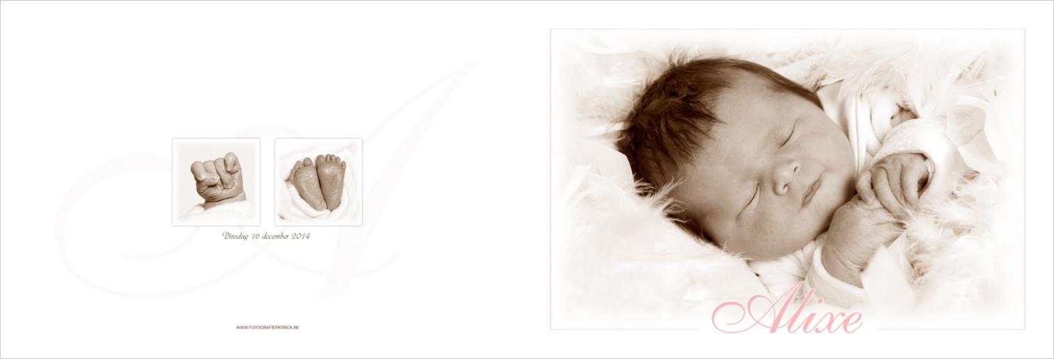 Geboortekaartje met foto van Alixe