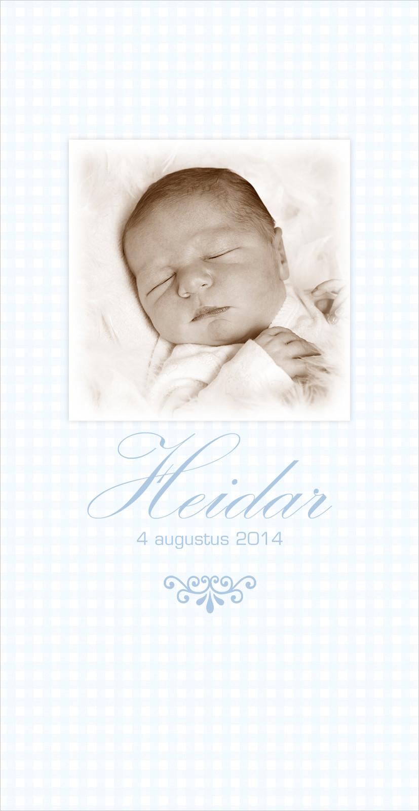 Geboortekaartje met foto van Heidar