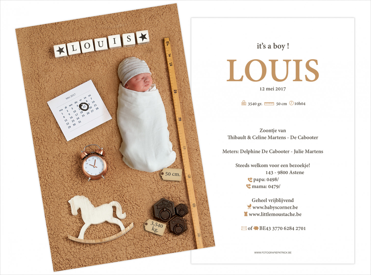 Geboortekaartje met foto van Louis