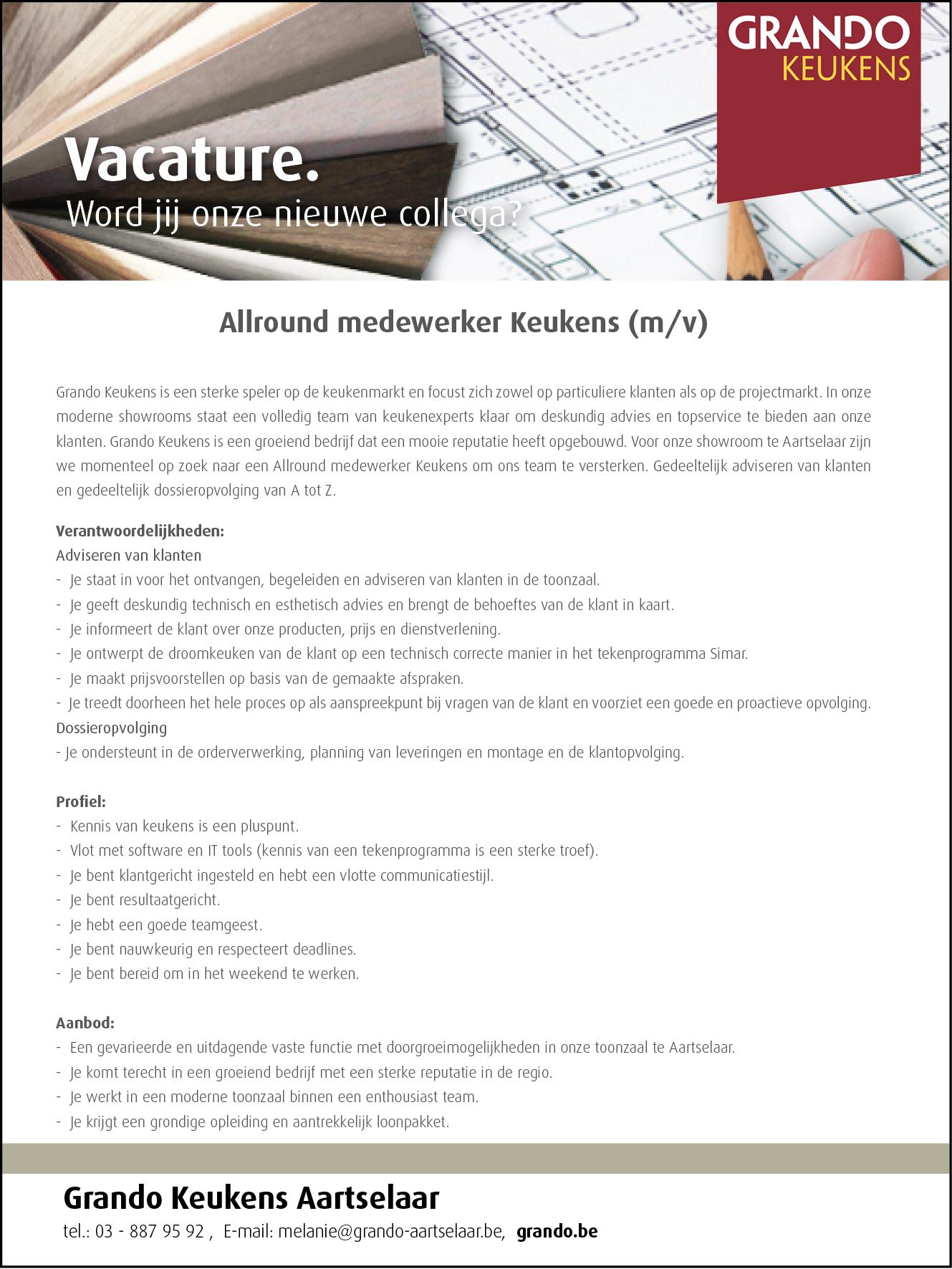 150x200 Vacature Aartselaar Allround medewerker keukens 2021.png
