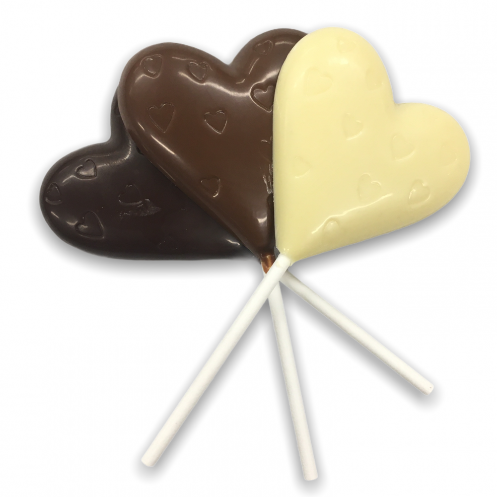 Lolly chocoladehart