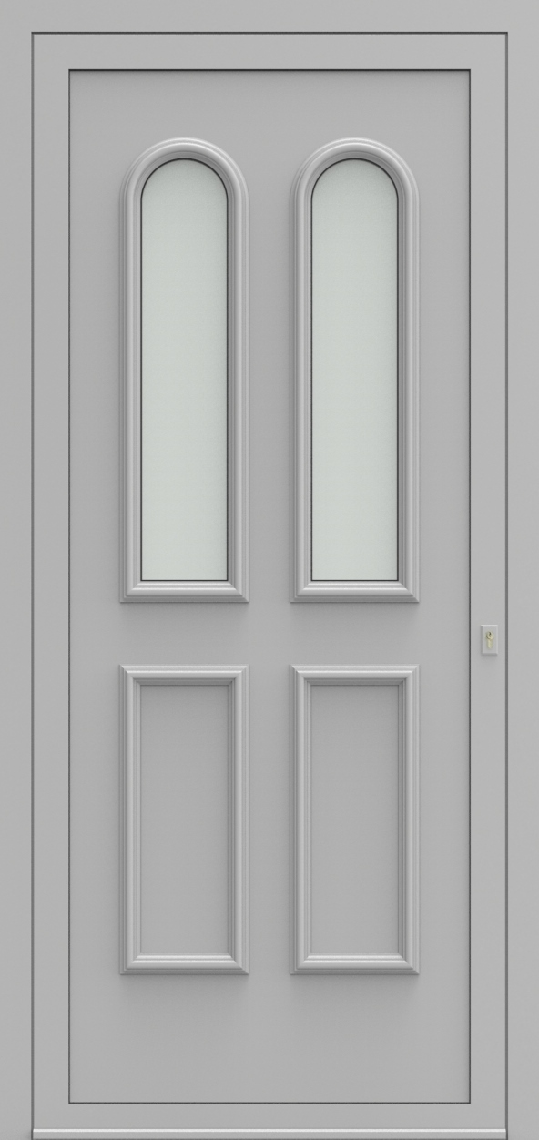 Porte d'entrée 101120 ATHENE de la gamme Alufix posée par les établissements CELEREAU à Roncq