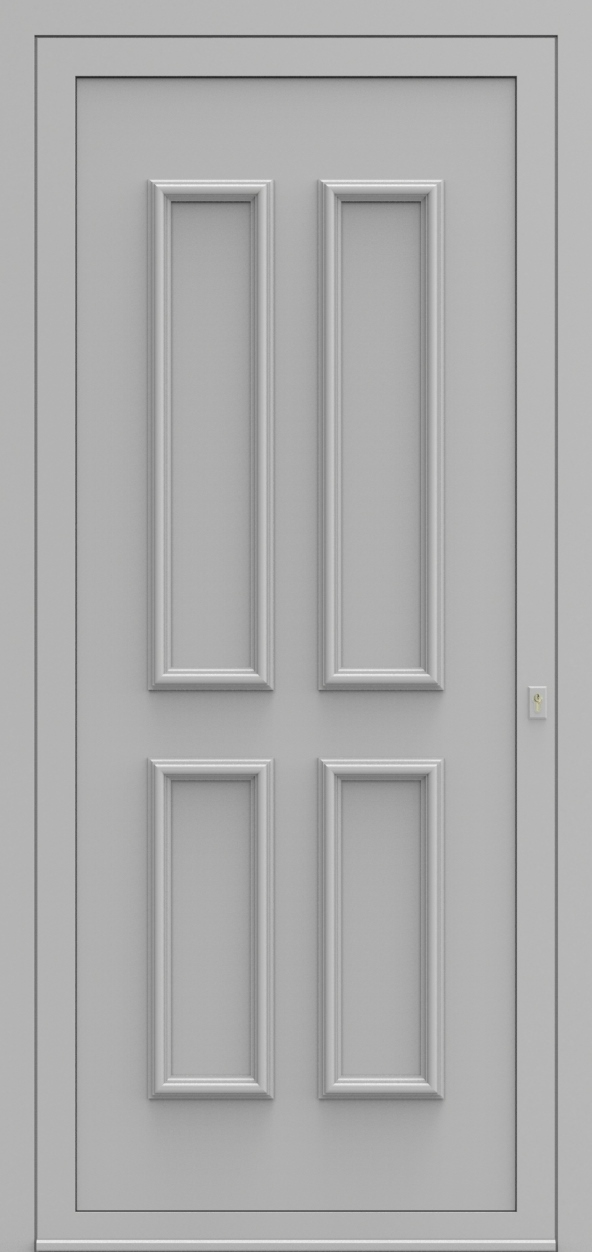 Porte d'entrée 101500 PRAAG de la gamme Alufix posée par les établissements CELEREAU à Roncq