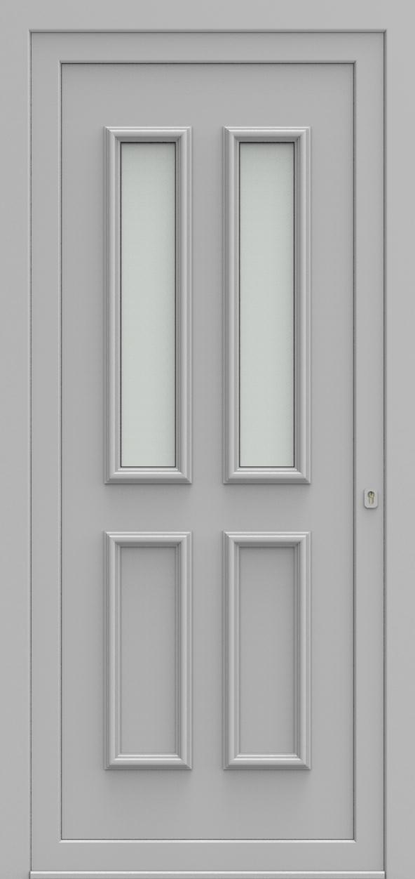 Porte d'entrée 101520 PRAAG de la gamme Alufix posée par les établissements CELEREAU à Roncq