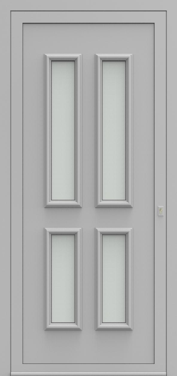 Porte d'entrée 101540 PRAAG de la gamme Alufix posée par les établissements CELEREAU à Roncq