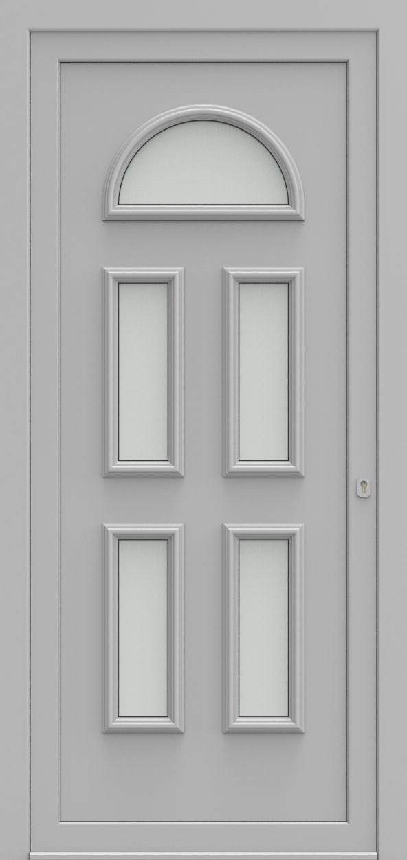Porte d'entrée 102050 VENETIE de la gamme Alufix posée par les établissements CELEREAU à Roncq