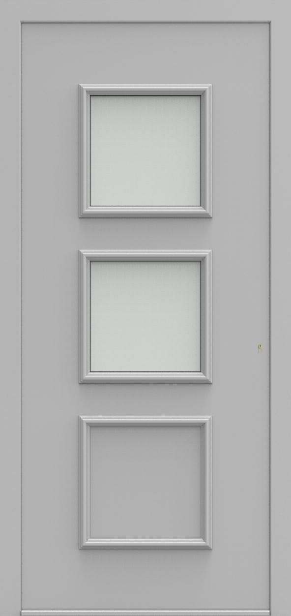 Porte d'entrée 102220 DOREA de la gamme Alufix posée par les établissements CELEREAU à Roncq