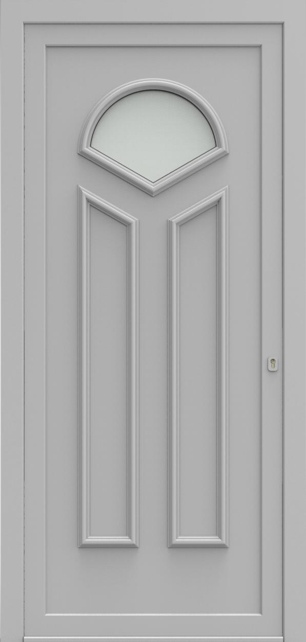 Porte d'entrée 102410 YORK de la gamme Alufix posée par les établissements CELEREAU à Roncq