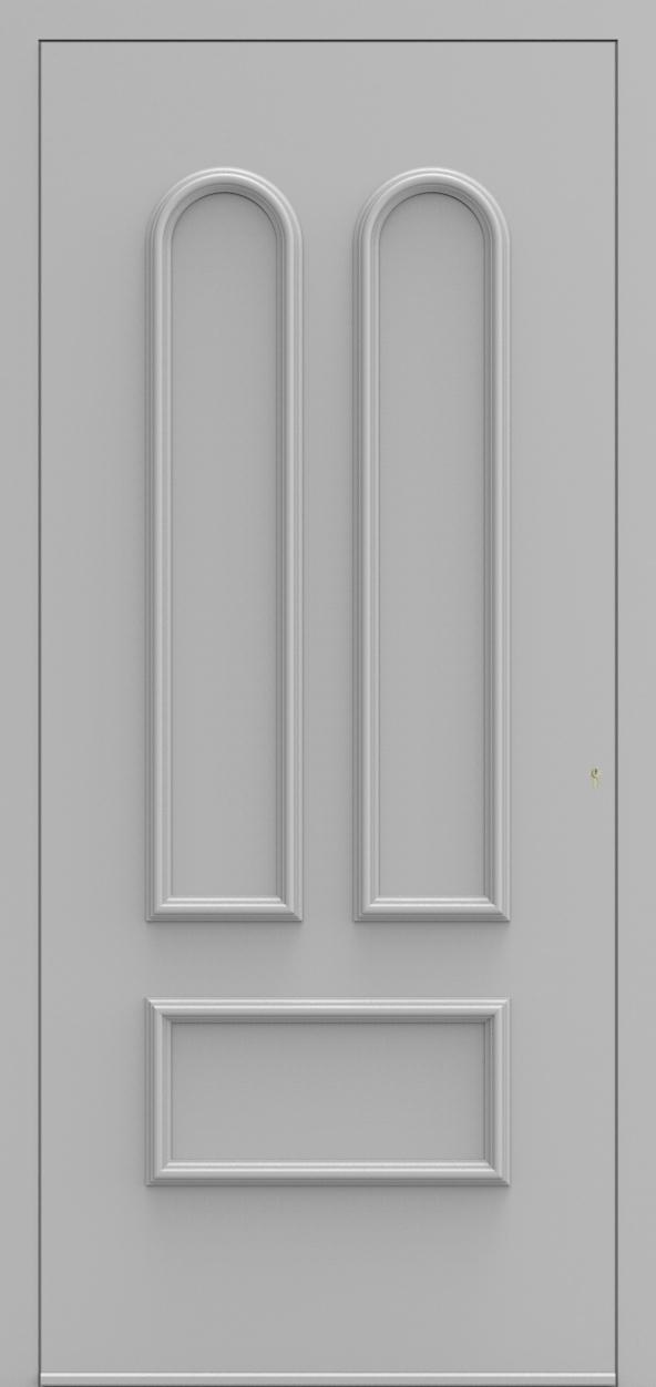 Porte d'entrée 102800 MADRID de la gamme Alufix posée par les établissements CELEREAU à Roncq