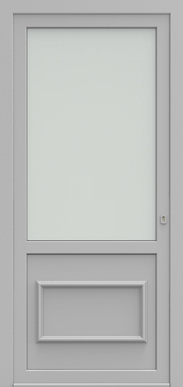 Porte d'entrée 102802 MADRID OND de la gamme Alufix posée par les établissements CELEREAU à Roncq