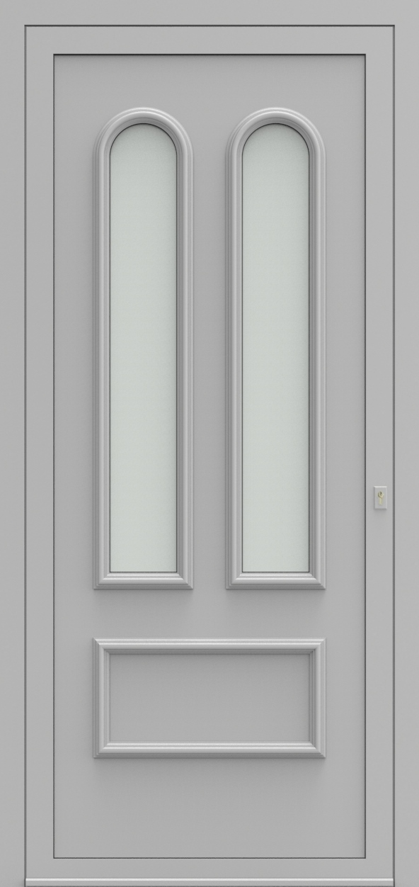 Porte d'entrée 102820 MADRID de la gamme Alufix posée par les établissements CELEREAU à Roncq