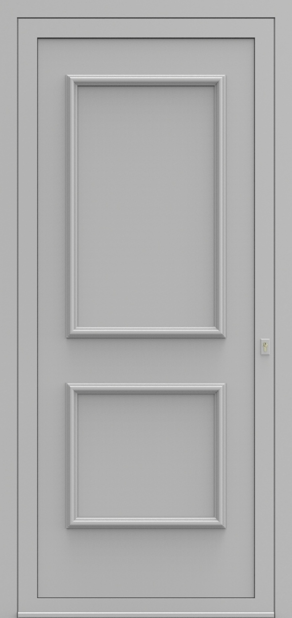 Porte d'entrée 103100 BURGOS de la gamme Alufix posée par les établissements CELEREAU à Roncq