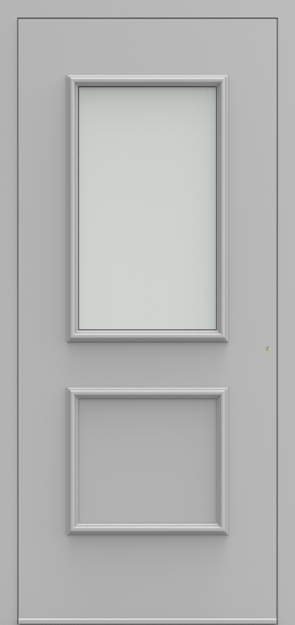 Porte d'entrée 103110 BURGOS de la gamme Alufix posée par les établissements CELEREAU à Roncq