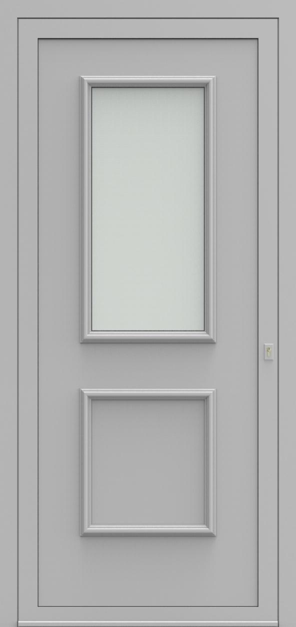 Porte d'entrée 103210 BILBAO de la gamme Alufix posée par les établissements CELEREAU à Roncq