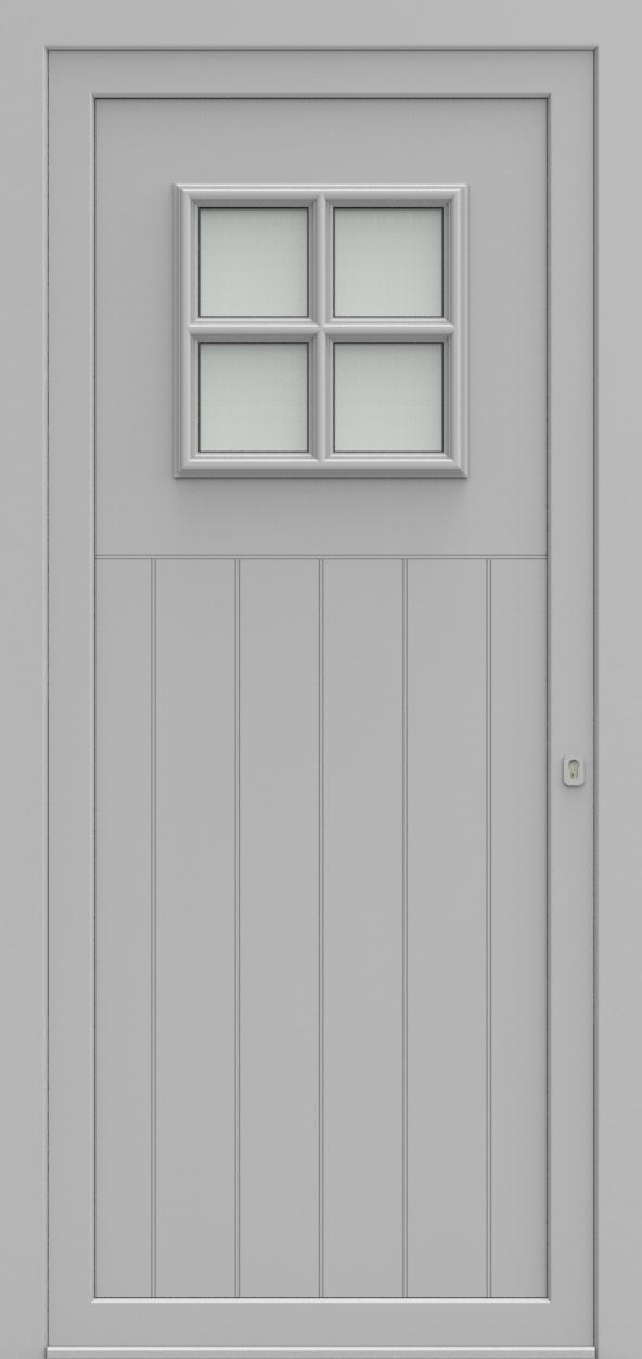 Porte d'entrée 105110 BELVEDERE de la gamme Alufix posée par les établissements CELEREAU à Roncq