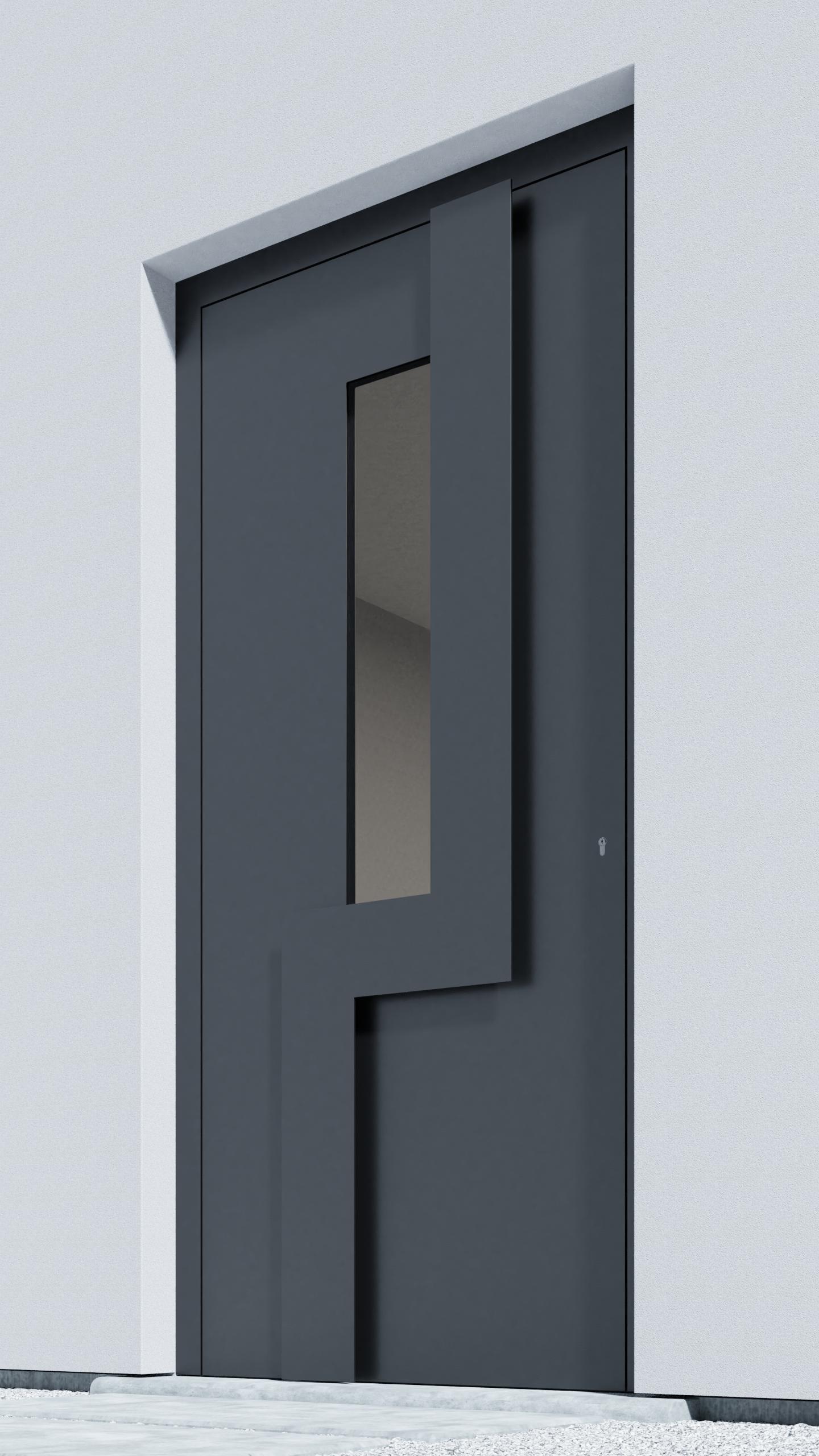 Porte d'entrée BH061Z Wagenfeld de la gamme Bauhaus posée par les établissements CELEREAU à Roncq