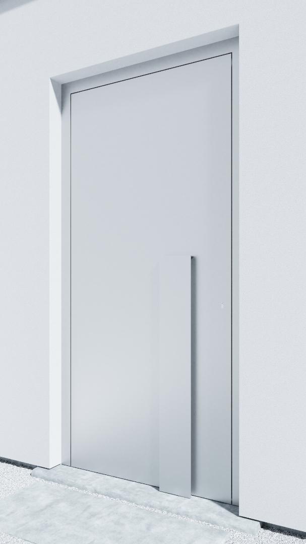 Porte d'entrée BH011W Breuer de la gamme Bauhaus posée par les établissements CELEREAU à Roncq