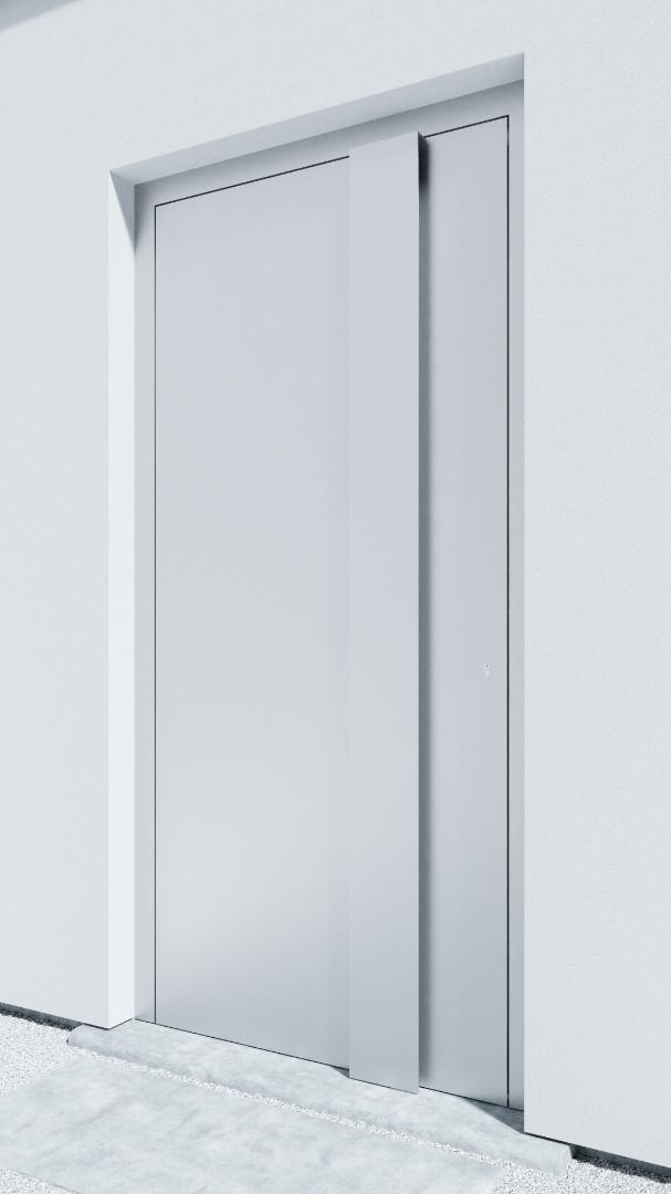 Porte d'entrée BH071W Gropius de la gamme Bauhaus posée par les établissements CELEREAU à Roncq