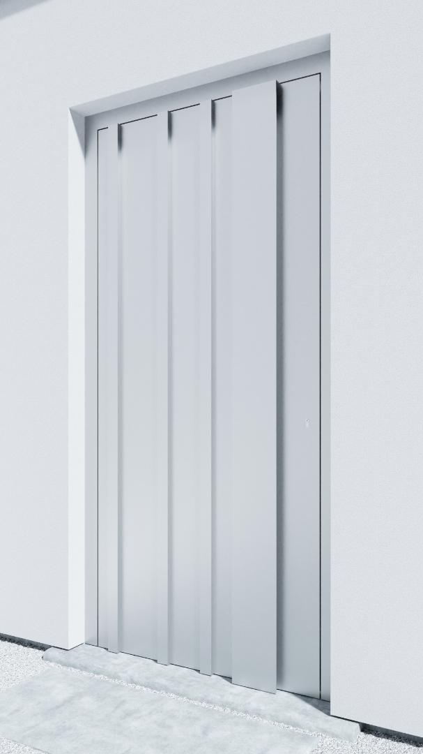 Porte d'entrée BH091W Kandinsky de la gamme Bauhaus posée par les établissements CELEREAU à Roncq