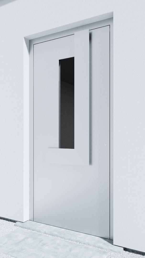 Porte d'entrée BH041W Klee de la gamme Bauhaus posée par les établissements CELEREAU à Roncq