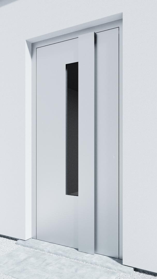 Porte d'entrée BH081W Rohe de la gamme Bauhaus posée par les établissements CELEREAU à Roncq