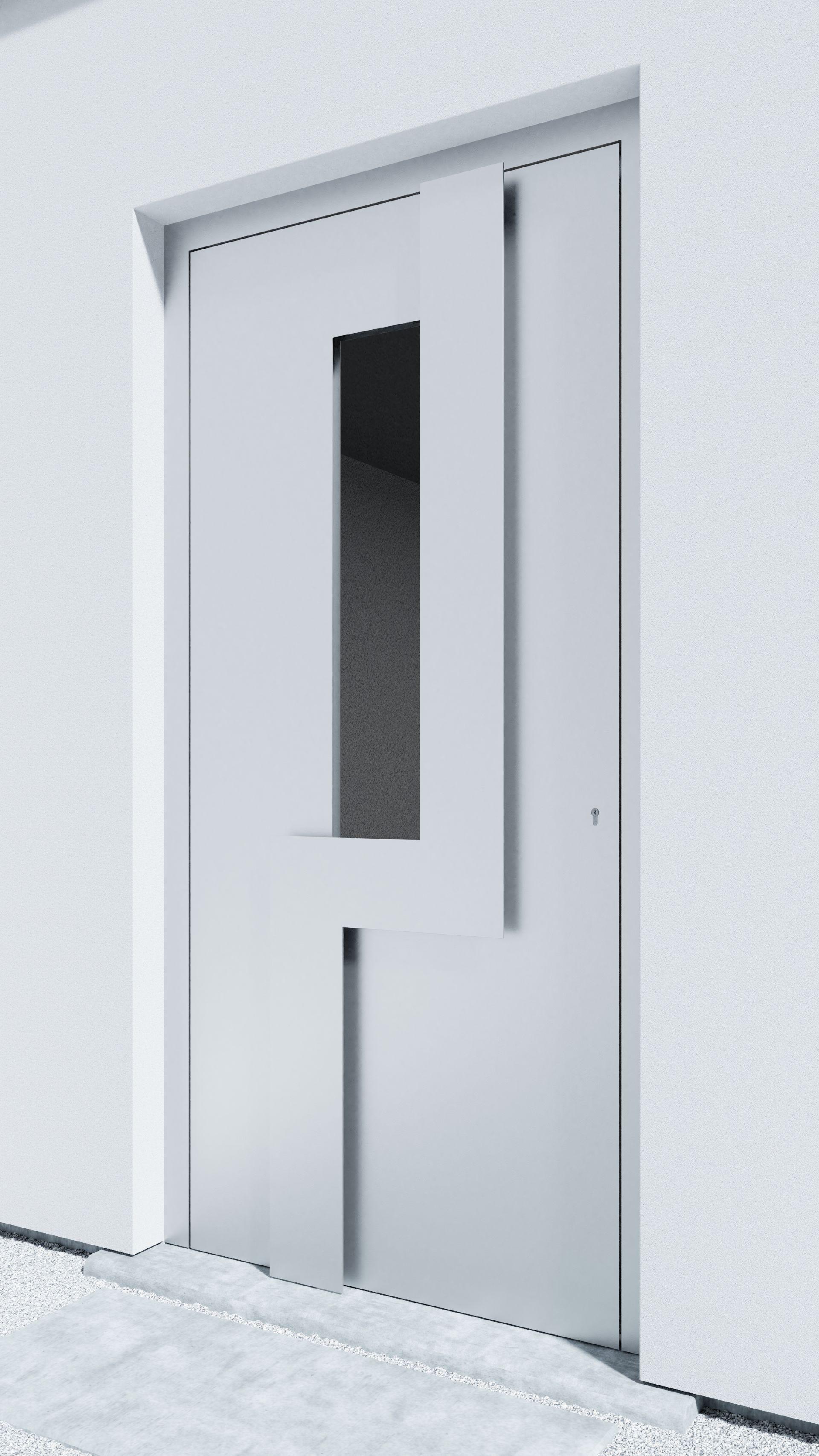 Porte d'entrée BH061W Wagenfeld de la gamme Bauhaus posée par les établissements CELEREAU à Roncq