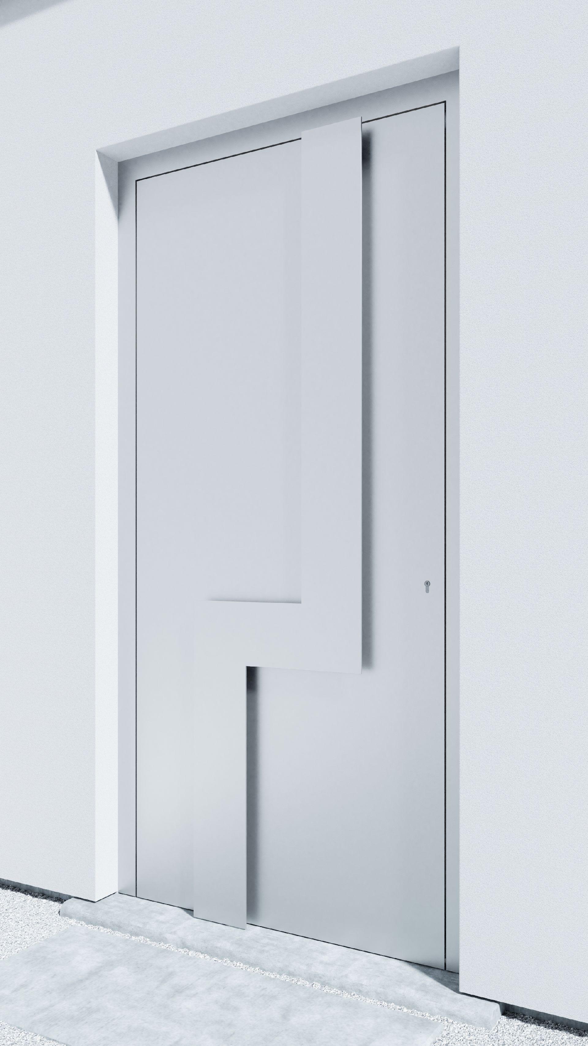 Porte d'entrée BH051W Moholy de la gamme Bauhaus posée par les établissements CELEREAU à Roncq