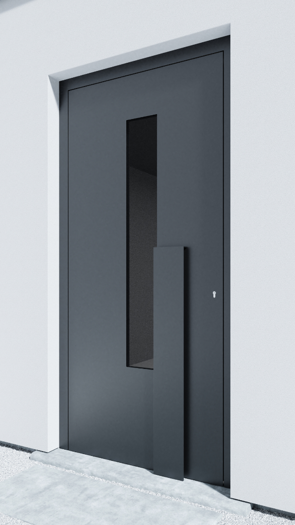Porte d'entrée BH021Z Brandt de la gamme Bauhaus posée par les établissements CELEREAU à Roncq