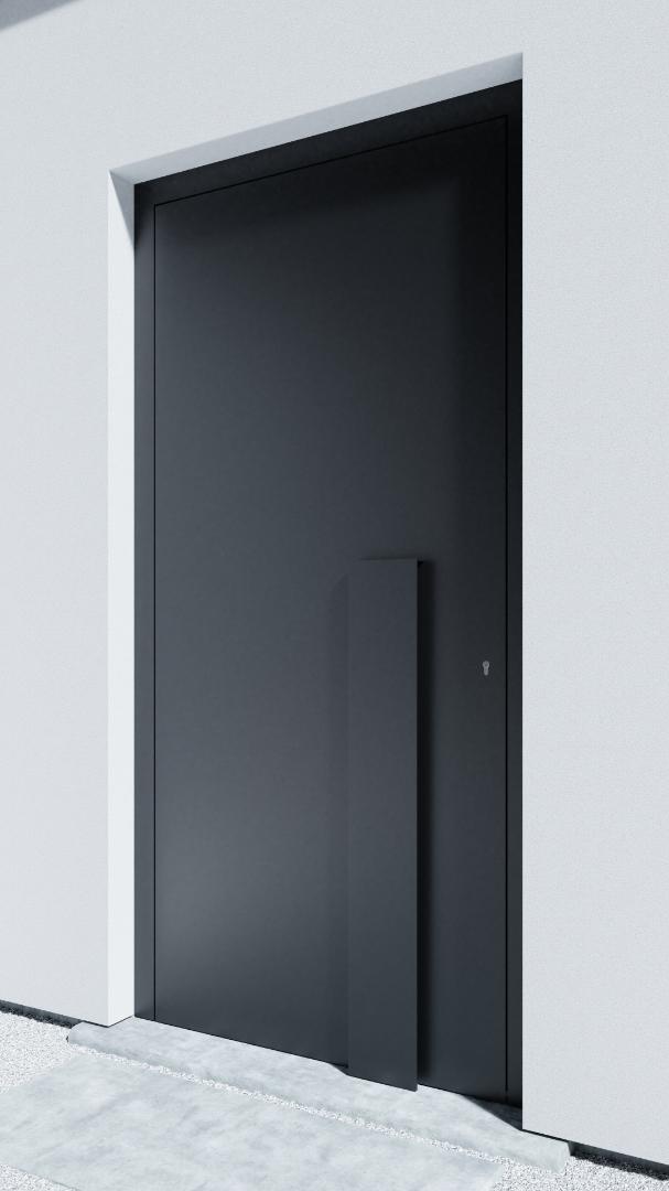 Porte d'entrée BH011Z Breuer de la gamme Bauhaus posée par les établissements CELEREAU à Roncq
