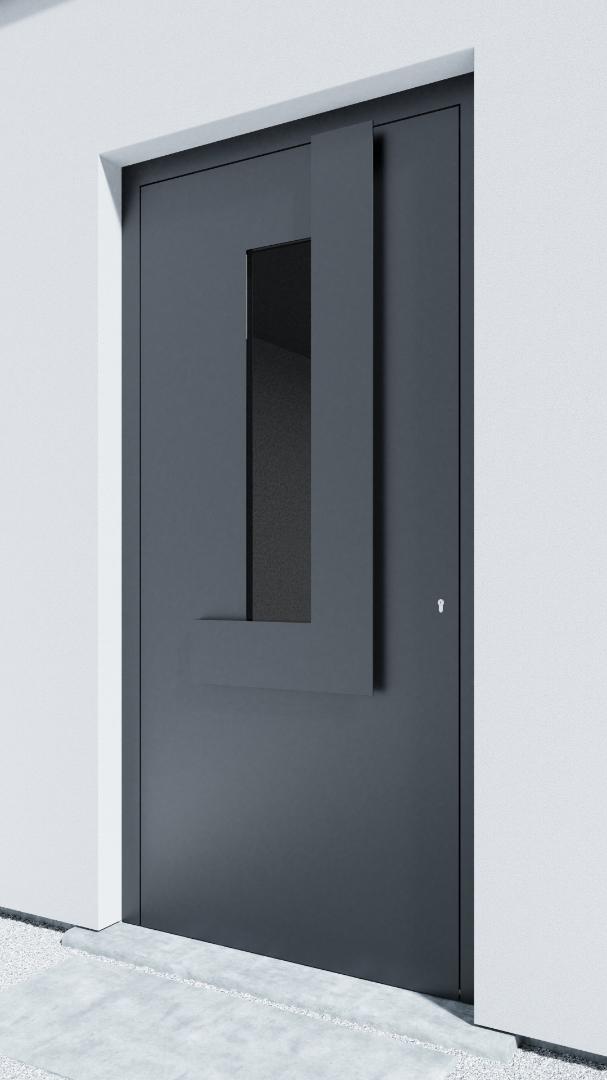 Porte d'entrée BH041Z Klee de la gamme Bauhaus posée par les établissements CELEREAU à Roncq