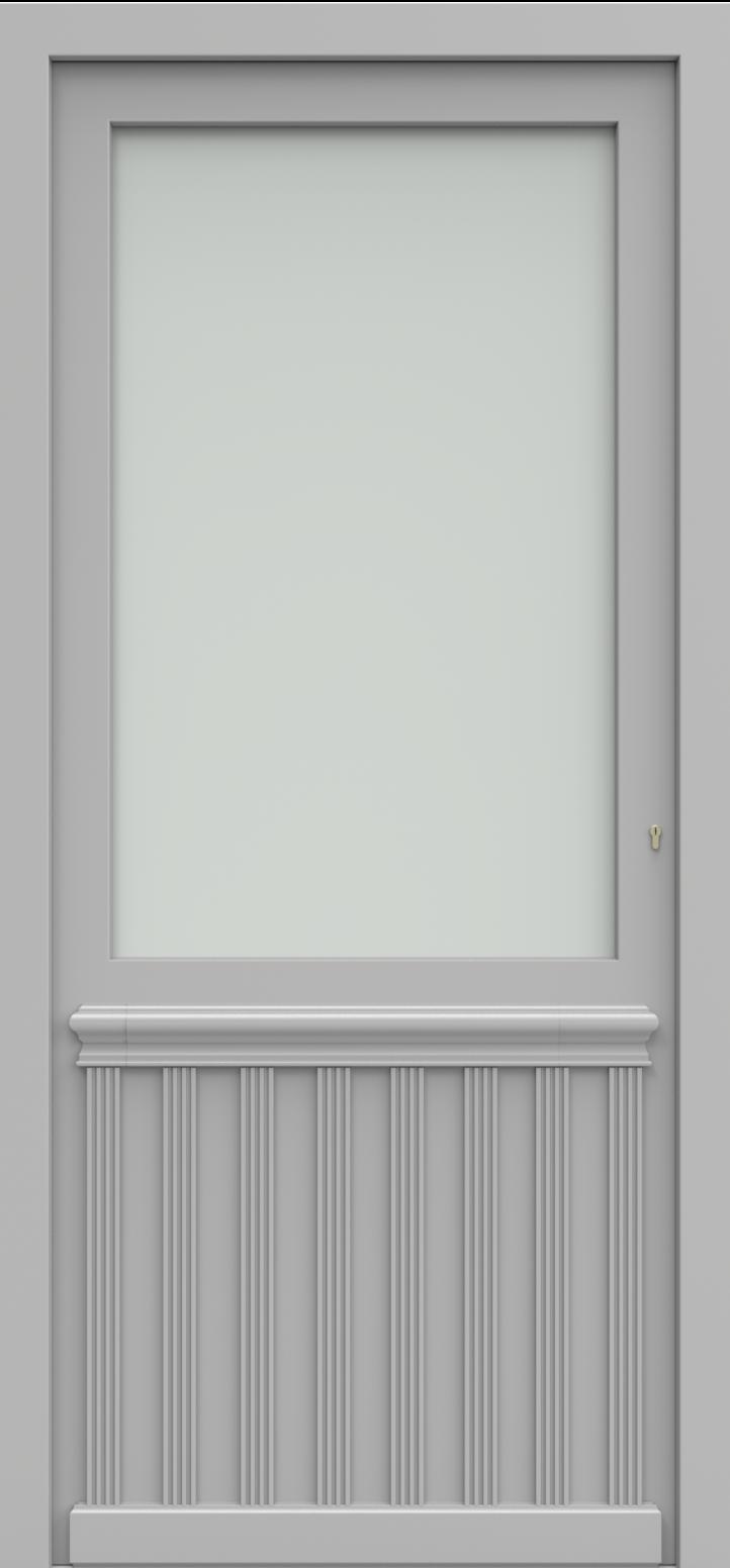 Porte d'entrée GRIEG 1/4 de la gamme Classics posée par les établissements CELEREAU à Roncq