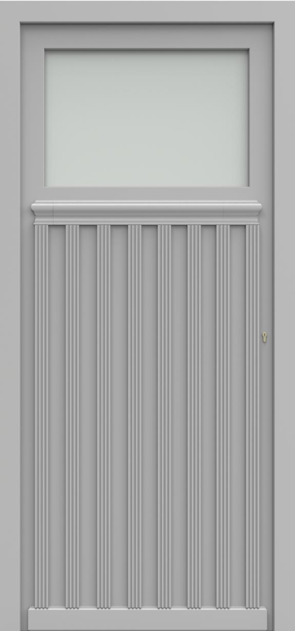 Porte d'entrée GRIEG 3/4 de la gamme Classics posée par les établissements CELEREAU à Roncq