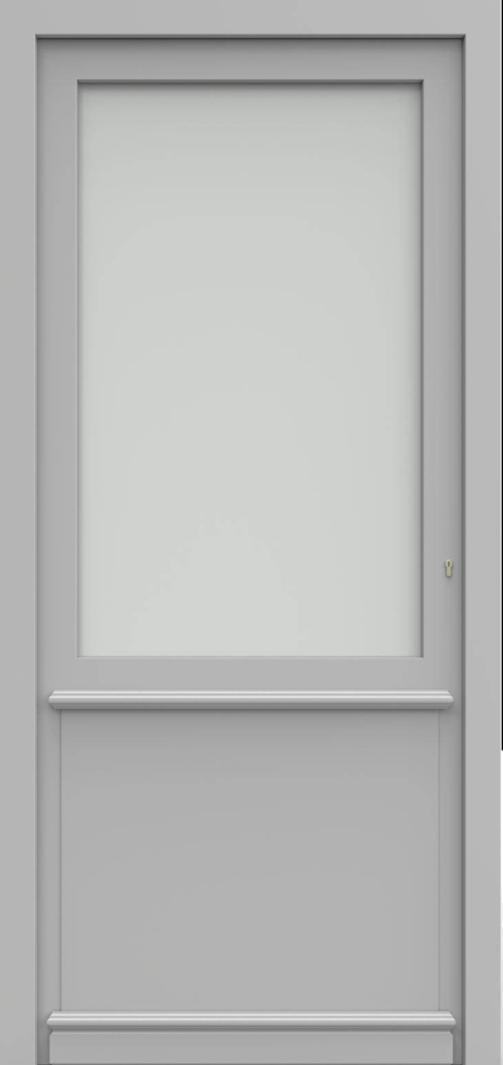 Porte d'entrée SATIE 1/4 de la gamme Classics posée par les établissements CELEREAU à Roncq