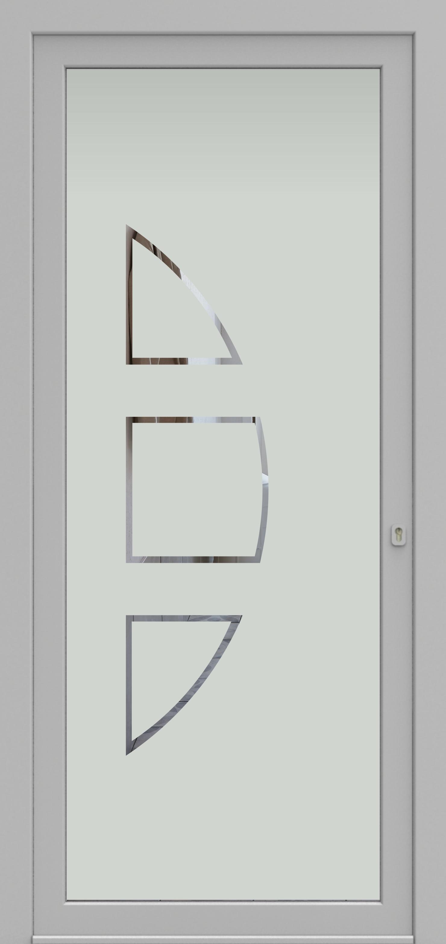 Porte d'entrée DECOVER 2/05 de la gamme Decover posée par les établissements CELEREAU à Roncq