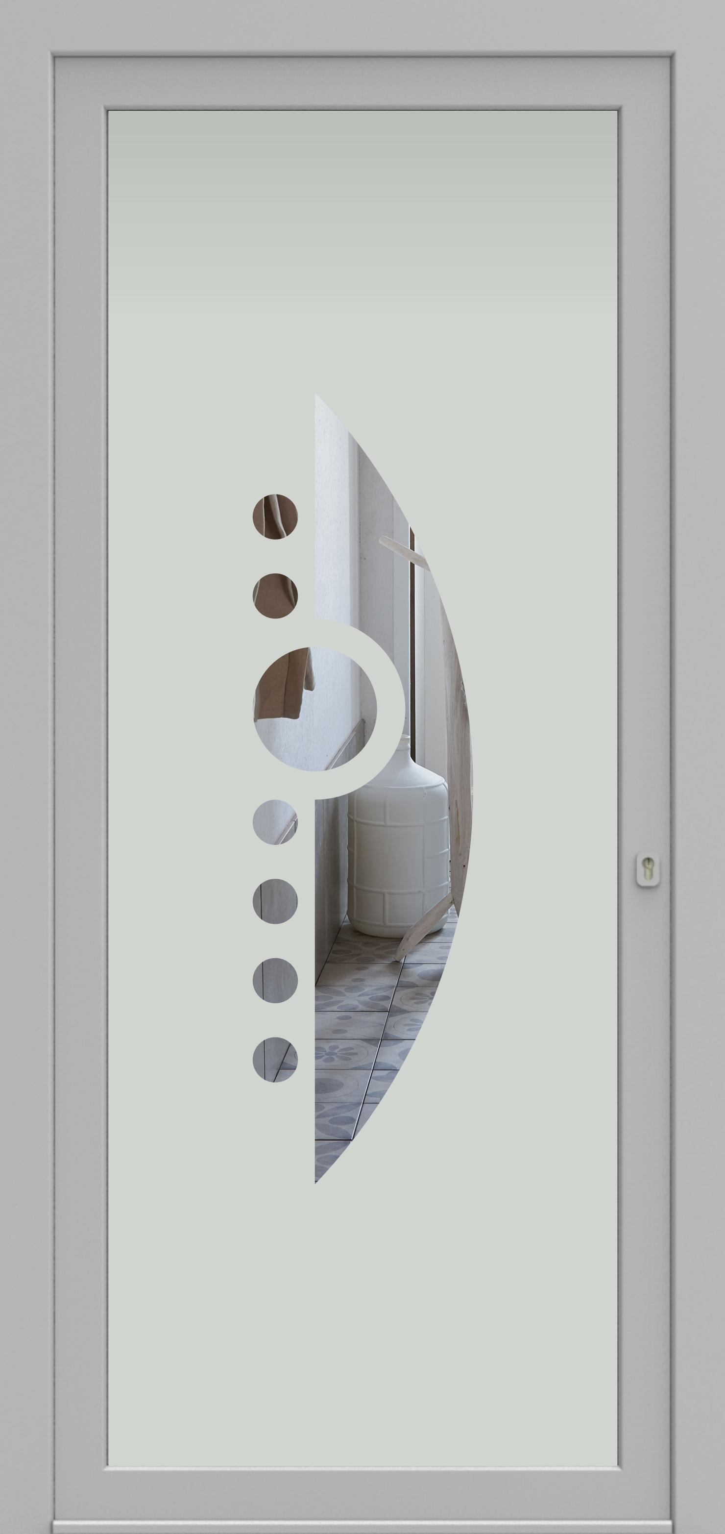 Porte d'entrée DECOVER 2/08 de la gamme Decover posée par les établissements CELEREAU à Roncq