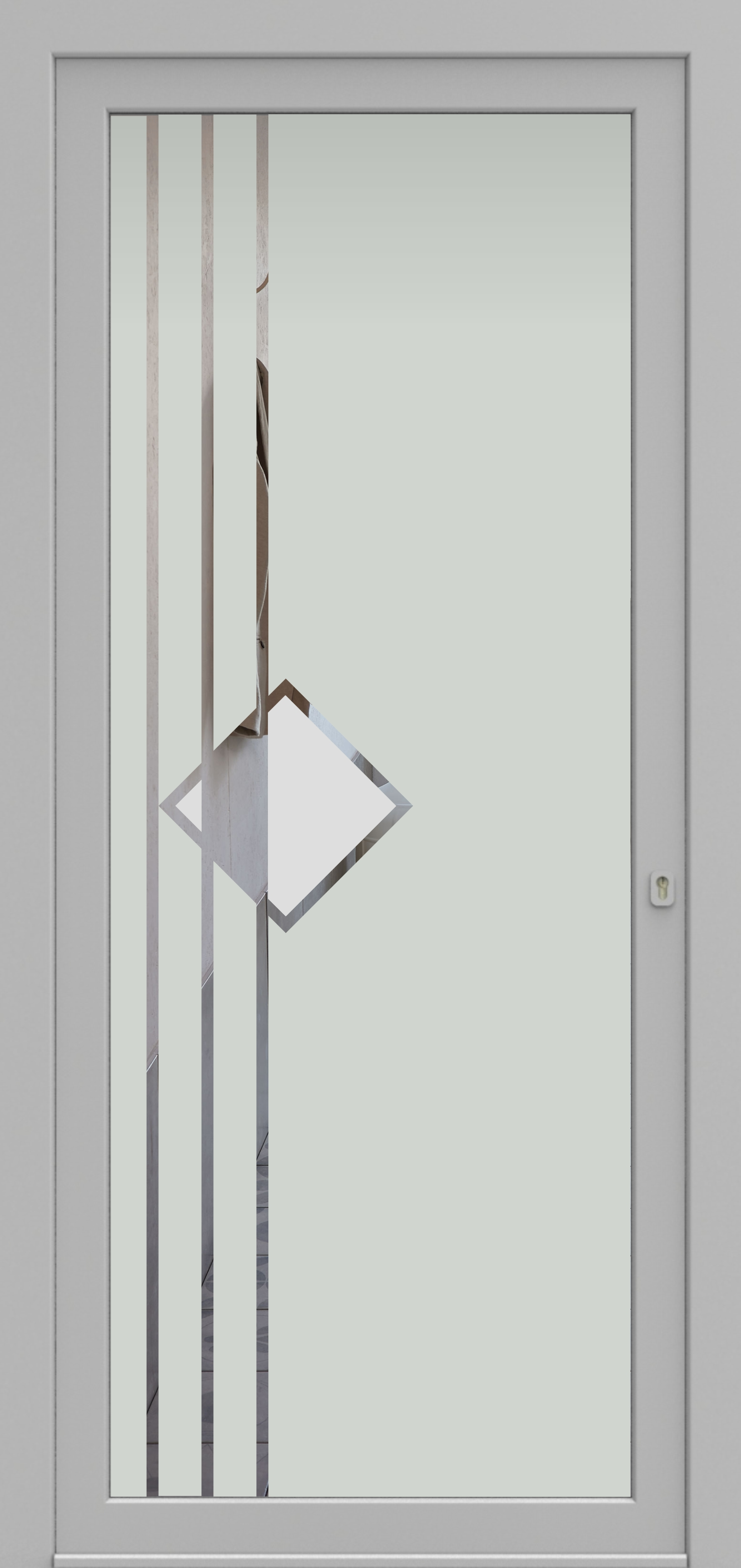 Porte d'entrée DECOVER 3/06 de la gamme Decover posée par les établissements CELEREAU à Roncq
