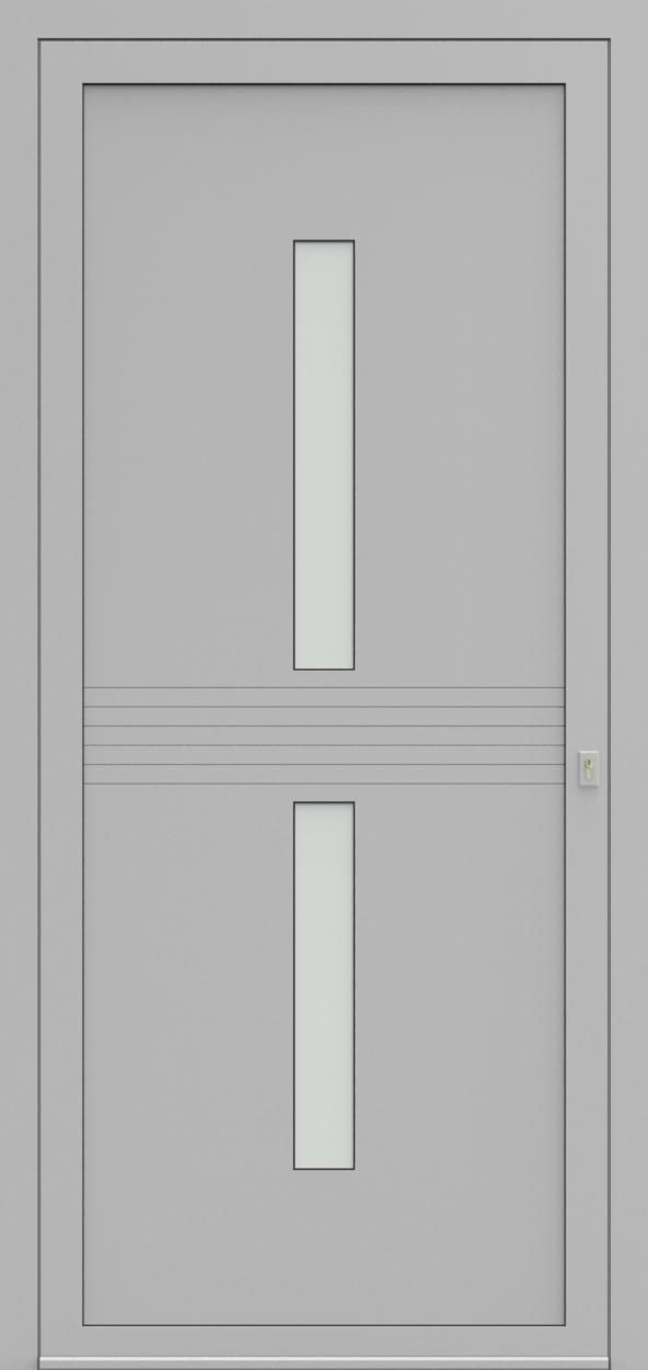 Porte d'entrée EQUILINE 10 de la gamme Light Design posée par les établissements CELEREAU à Roncq
