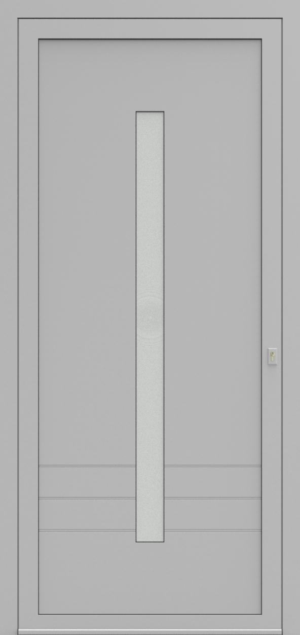 Porte d'entrée EQUILINE 1 de la gamme Light Design posée par les établissements CELEREAU à Roncq