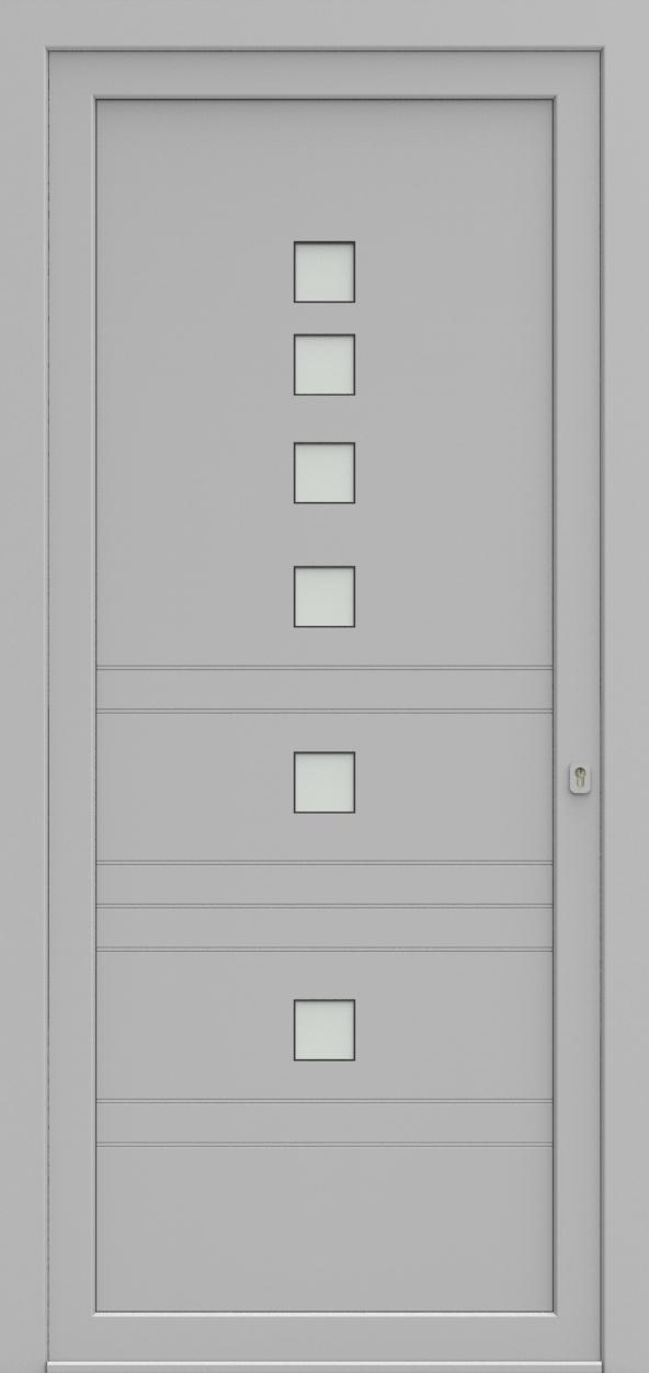 Porte d'entrée EQUILINE 2 de la gamme Light Design posée par les établissements CELEREAU à Roncq