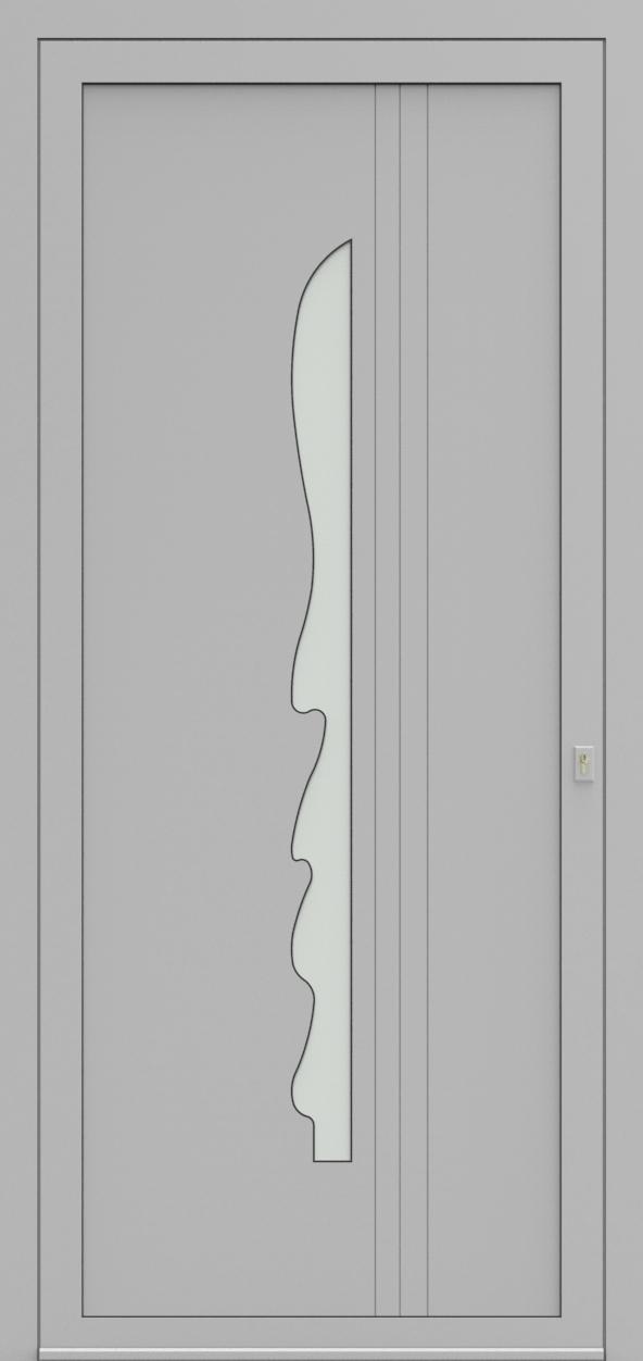 Porte d'entrée EQUILINE 3 de la gamme Light Design posée par les établissements CELEREAU à Roncq