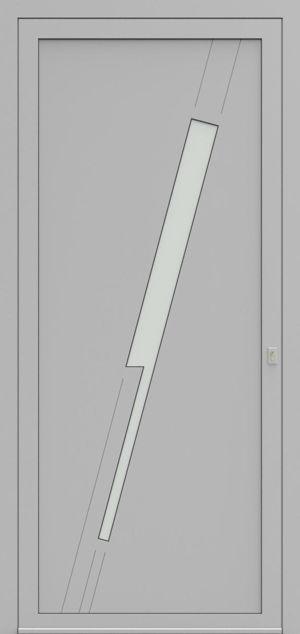 Porte d'entrée EQUILINE 4 de la gamme Light Design posée par les établissements CELEREAU à Roncq