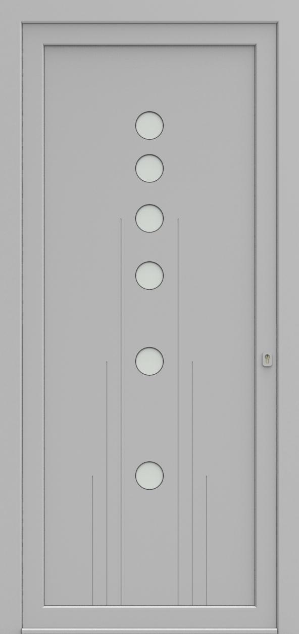 Porte d'entrée EQUILINE 5 de la gamme Light Design posée par les établissements CELEREAU à Roncq