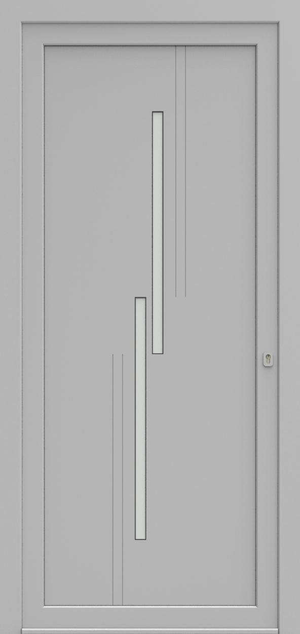 Porte d'entrée EQUILINE 6 de la gamme Light Design posée par les établissements CELEREAU à Roncq